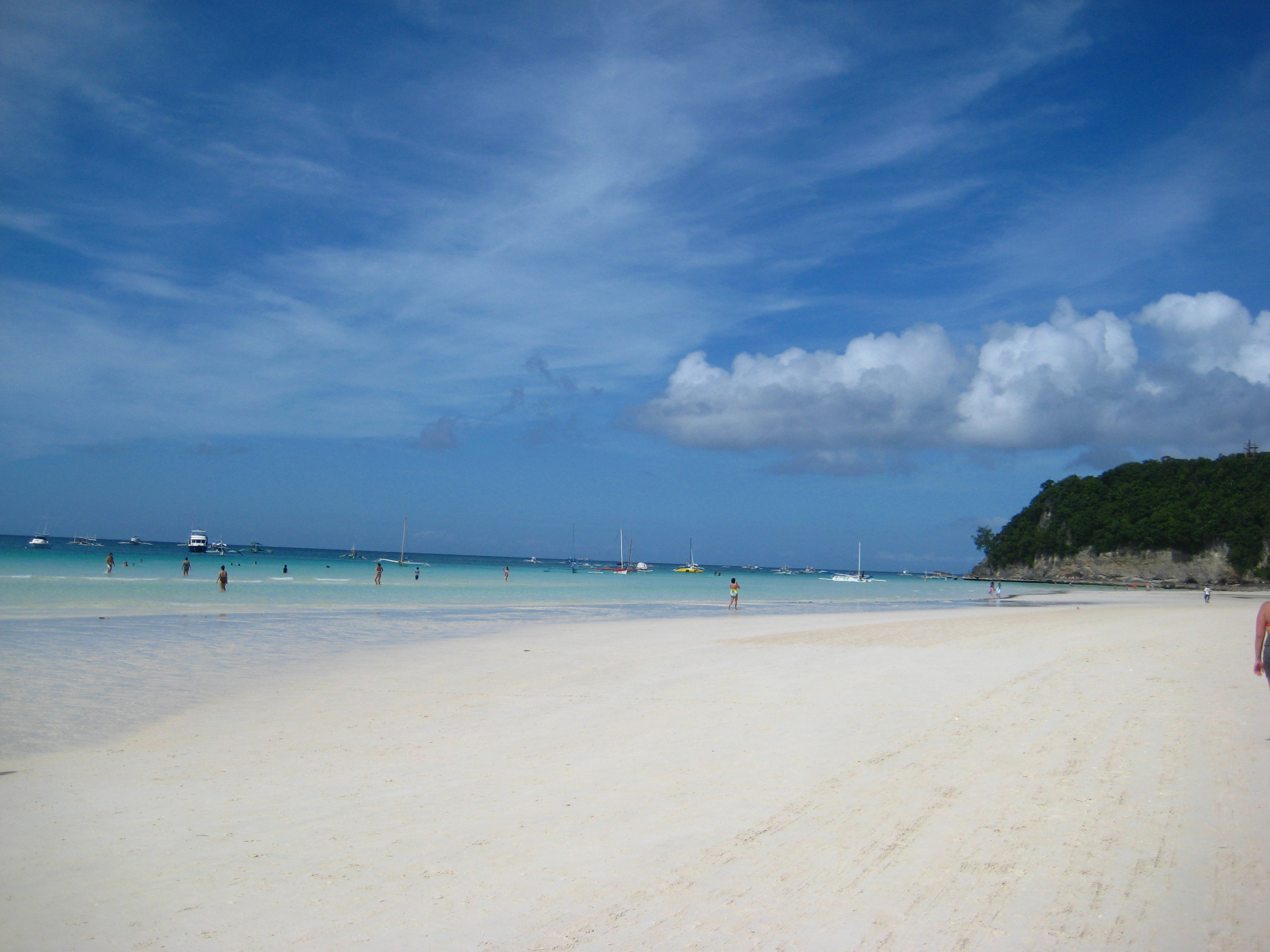 The white sand beach of Boracay Island in Philippines