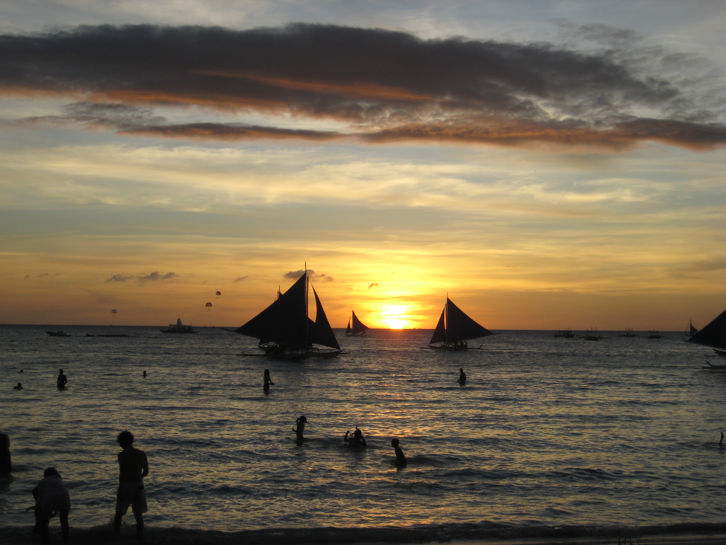 Sunset in Boracay Island, Philippines