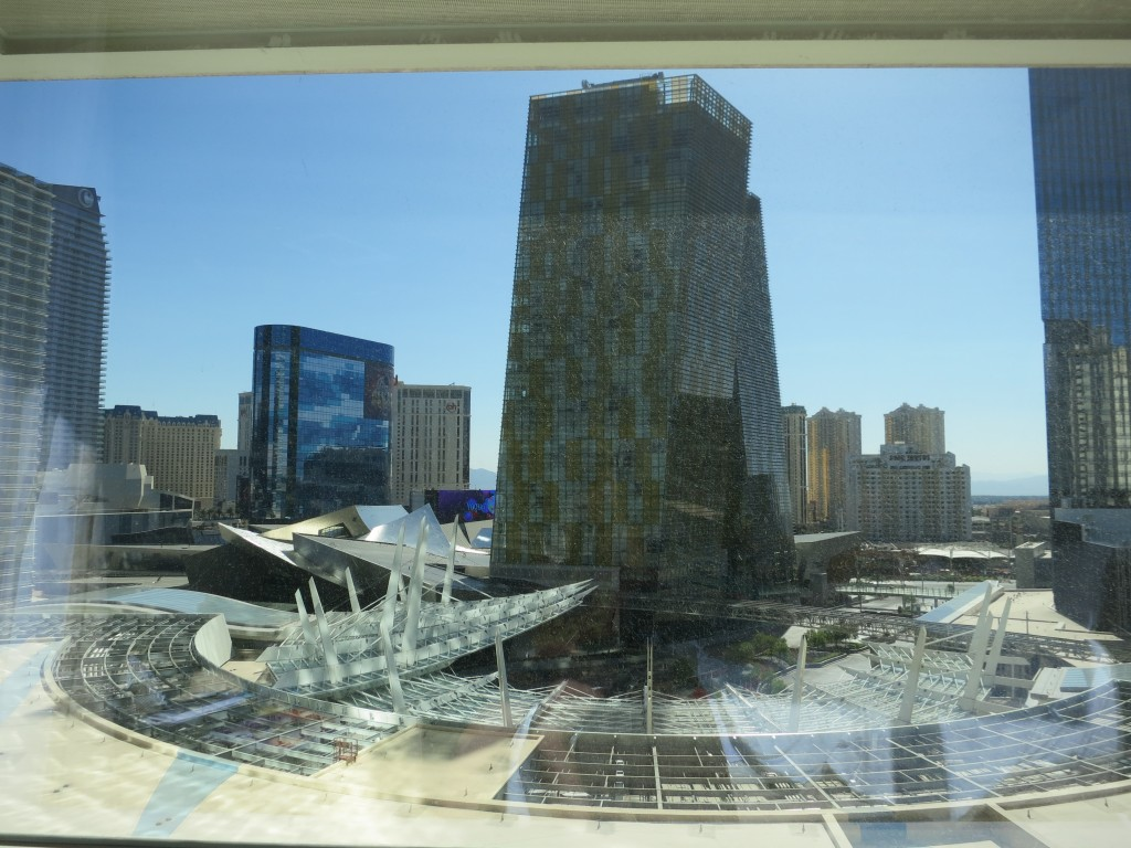 View of Las Vegas from a room in the Aria hotel
