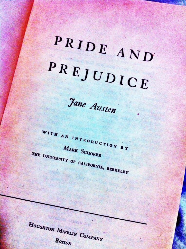 Title page of a copy of Pride and Prejudice