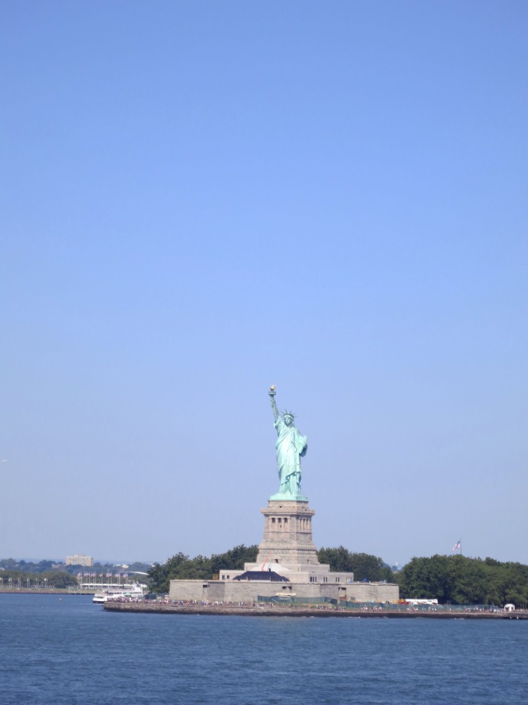 Statue of Liberty in New York City on a sunny day