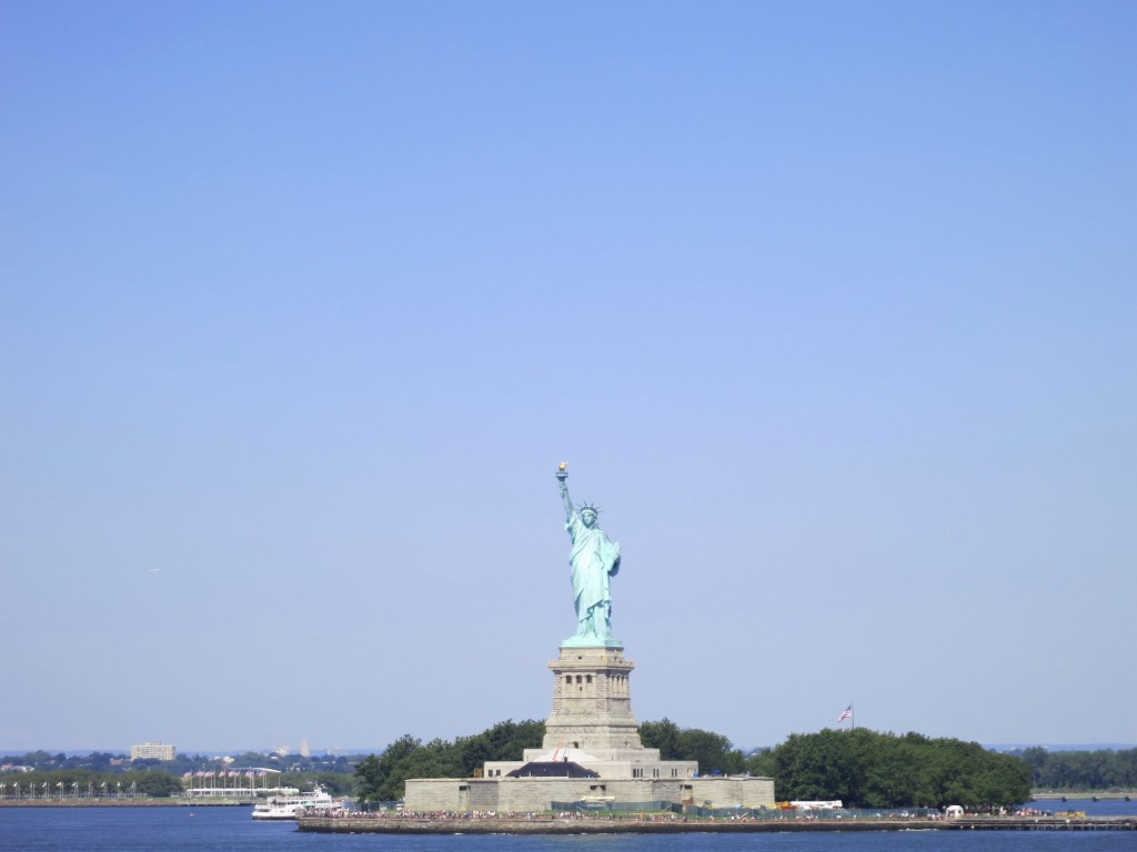 Statue of Liberty on a sunny day in NYC