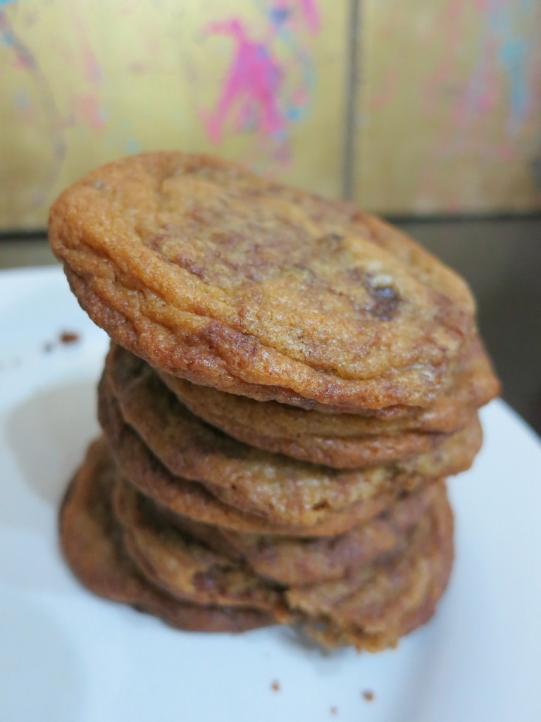Finished nutella chocolate chip cookies