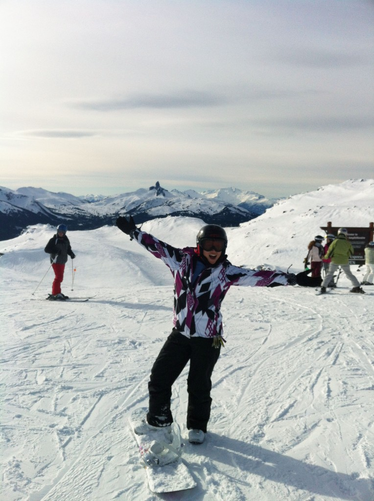 Karra Barron on top of Whistler Mountain