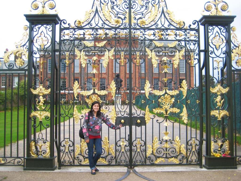 Gate in front of Kensington Palace in London, England