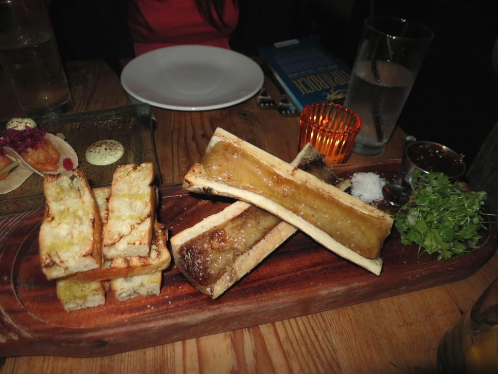 Roasted bone marrow at Beauty and Essex