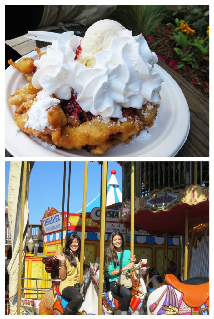 Pier 39 carousel and funnel cake