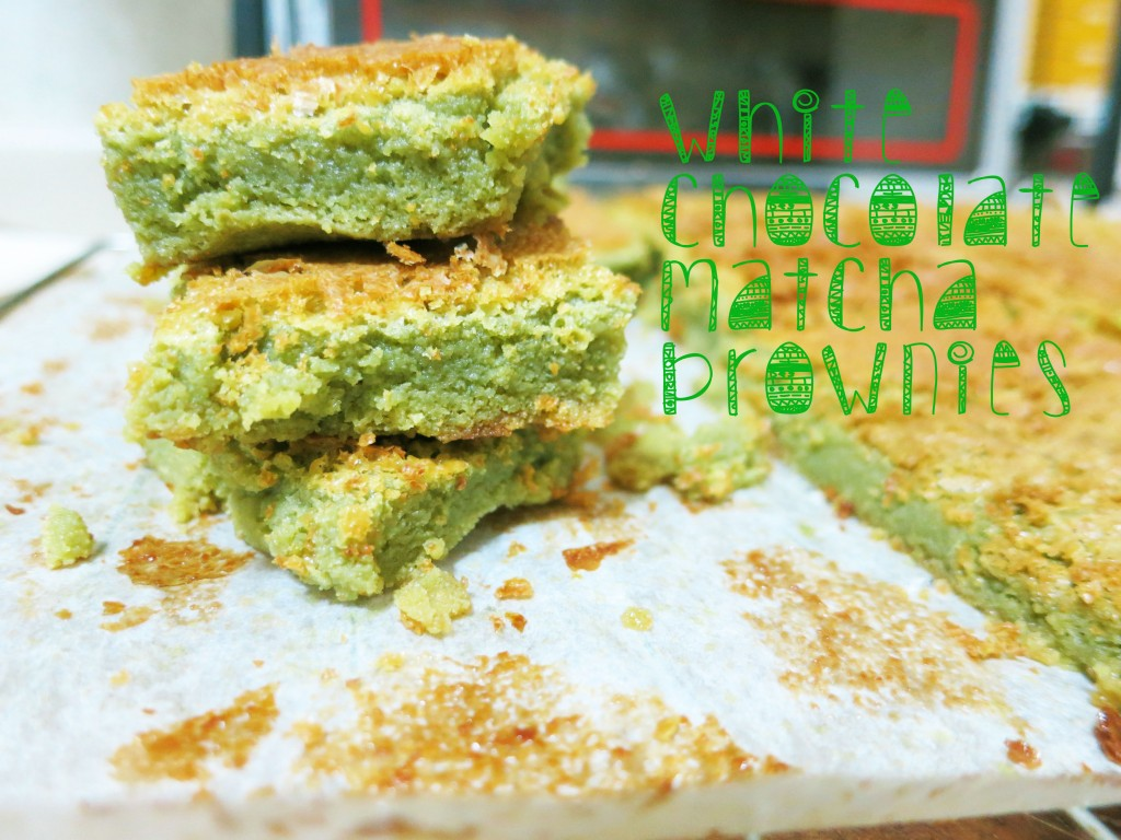White Chocolate Matcha Brownies