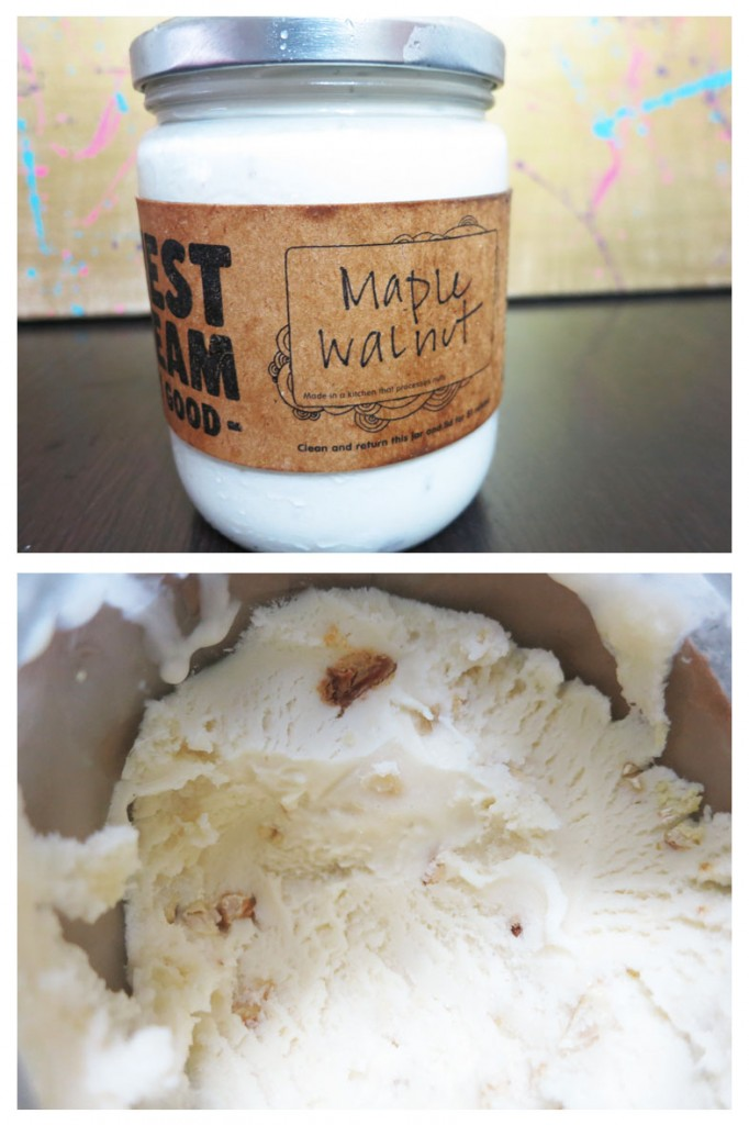 Maple Walnut ice cream from Earnest Ice Cream