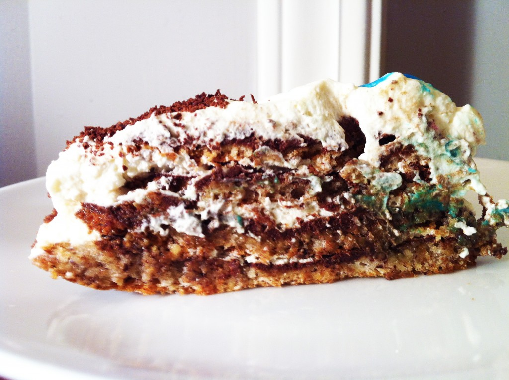 Slice of Chocolate Hazelnut Macaroon Torte