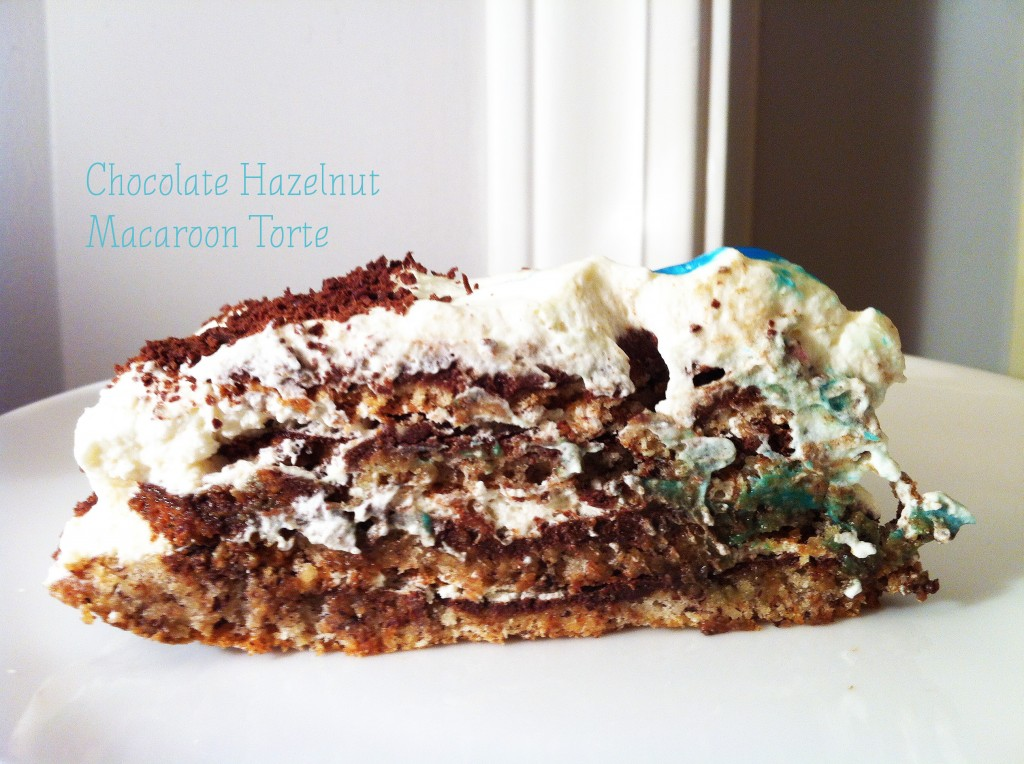 Chocolate Hazelnut Macaroon Torte
