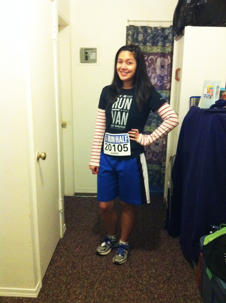 Ready for my first half - the BMO Vancouver Half Marathon