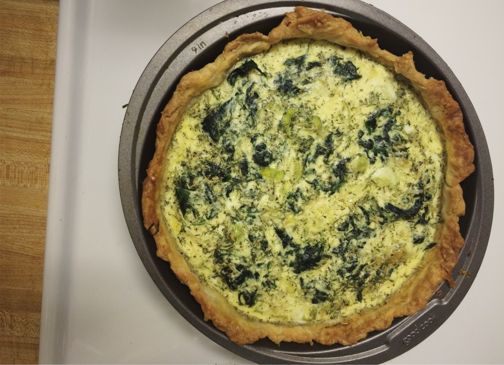 Leek and Spinach Quiche