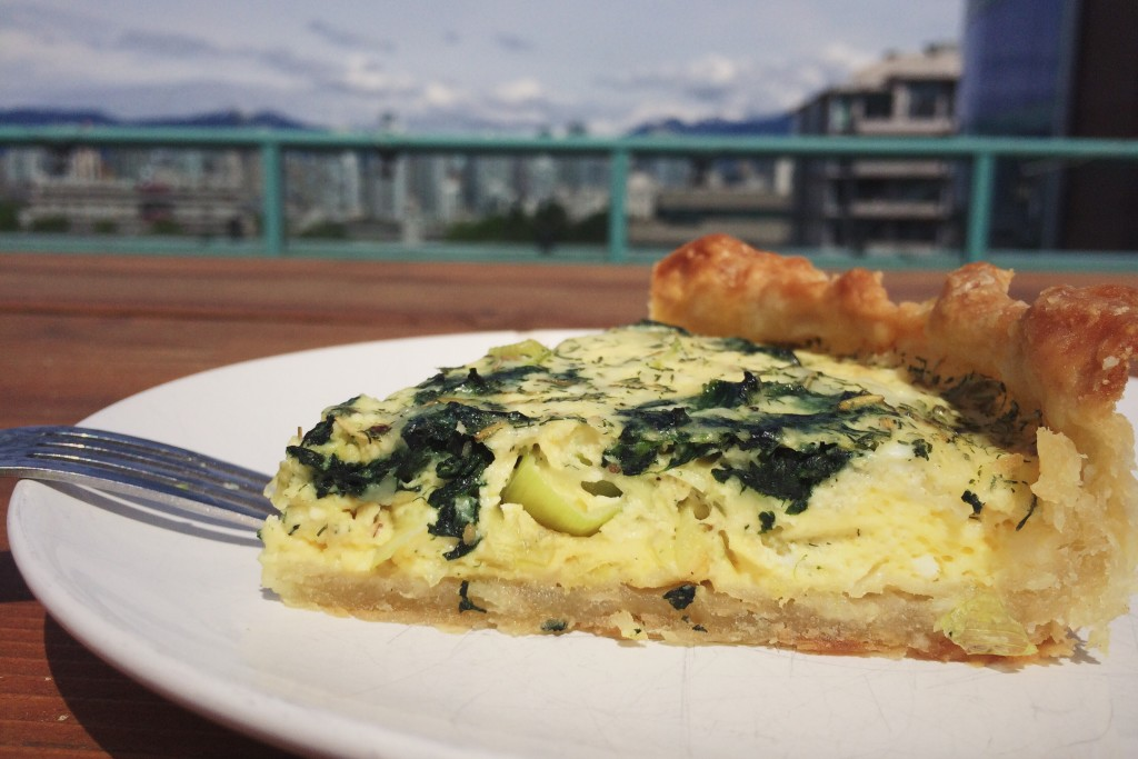 Slice of Leek and Spinach Quiche